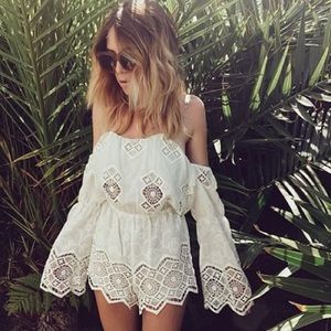 Stone Cold Fox Dresses & Skirts - Stone Cold Fox Aden Lace Romper