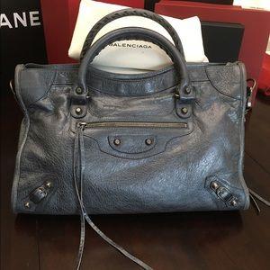 Balenciaga Metallic Classic City Bag