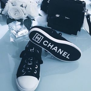 Adorable Chanel sneakers .authentic !