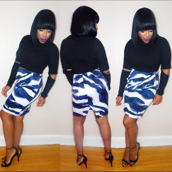 Karen Millen Dresses & Skirts - Geometric Peplum Skirt