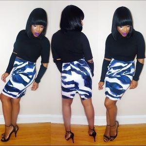 Karen Millen Skirts - Geometric Peplum Skirt