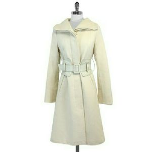 Mackage- Cream Wool Belted Coat Sz S