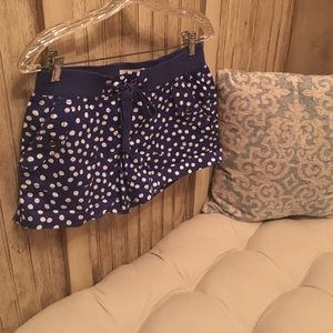 LOFT blue polka dot shorts