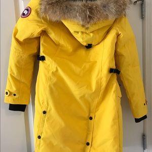 Canada Goose Jackets & Coats - RARE COLOR Canada Goose Yellow Kensington Parka XS