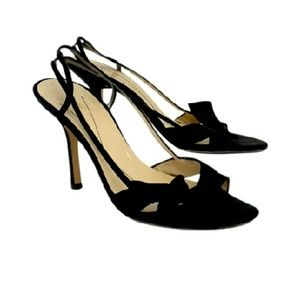 Kate Spade- Black Strappy Bow Heels Sz 9.5