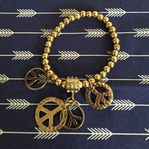 Juicy Couture Jewelry - Juicy Couture Peace Sign Bracelet
