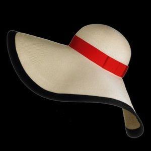 Eugenia Kim Accessories - Eugenia Kim Sunny Straw Hat - Bone; Black; Red.