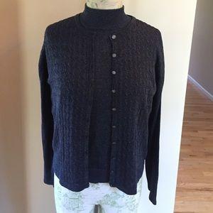 Gorgeous Navy Metallic Sweater Set