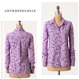 "Anthropologie Tarpan ""horse print"" buttondown"