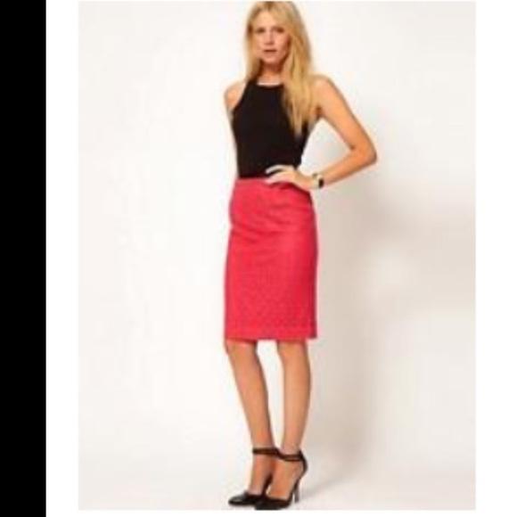 44cbfb012037 ASOS Skirts | Nwt Oasis Brand Pink Lace Pencil Skirt Knee 4 | Poshmark