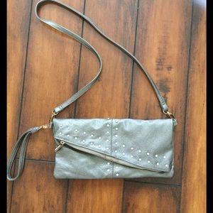 Silver crossbody purse