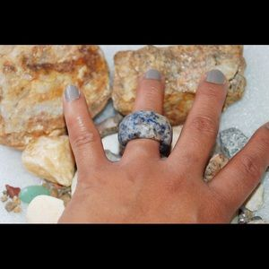 Large Natural Navy Sodalite Ring