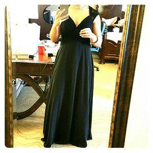 Mori Lee Dresses & Skirts - Mori lee chiffon & lace black dress