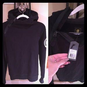 G-Star Tops - G-star Raw bauchan navy hooded sweatshirt in black