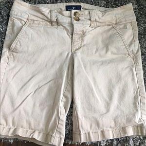 american eagle khaki bermuda shorts