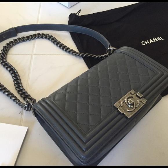 168774c8083a CHANEL Bags   Boy Bag In Grey   Poshmark