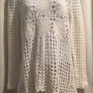 Free People Sweaters - Free people open back lace sweater