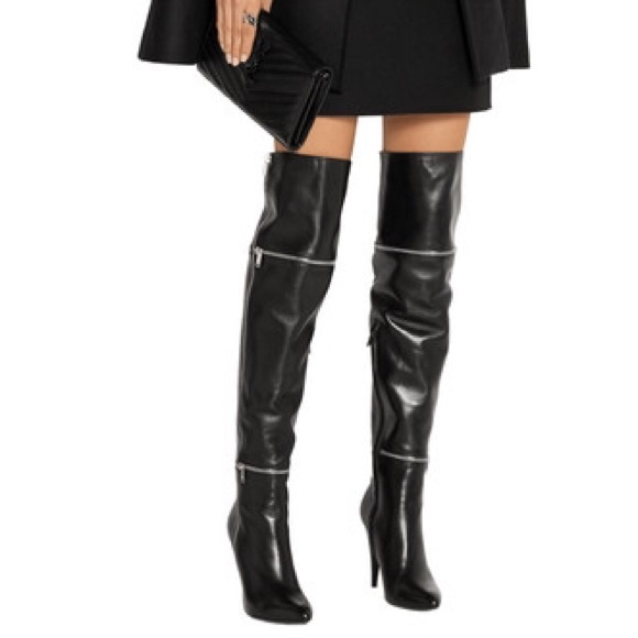 8fa0dbfd5b3 Saint Laurent  Fetish 105 Zip  Over The Knee Boot