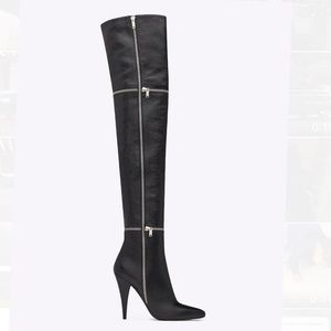 Saint Laurent Shoes - Saint Laurent 'Fetish 105 Zip' Over The Knee Boot