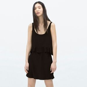 Zara Dresses & Skirts - Zara Trafaluc Black Tiered Dress