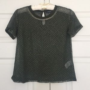 Gryphon Tops - Olive Green Silk Beaded Gryphon Top