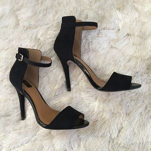 Zara Shoes - Zara Collection Black Ankle Strap Heels 37