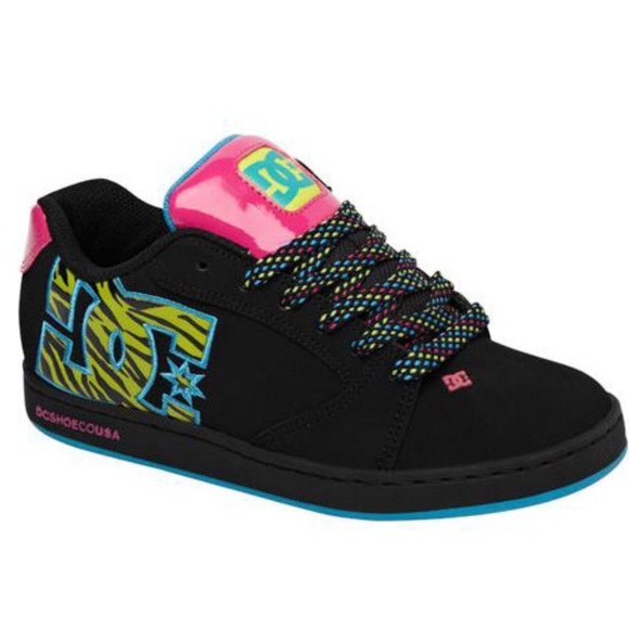 NEW Women s 8 DC Raif SE Shoe Black Soft Lime 388ccde1a420a