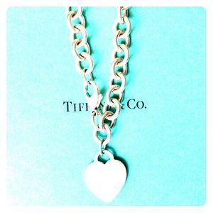 Tiffany & Co Sterling Silver 925 Heart Bracelet