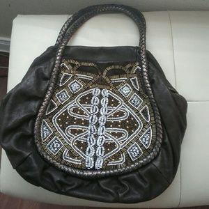 Isabella Fiore Handbags - Isabella Fiore  Beaded Front Handbag
