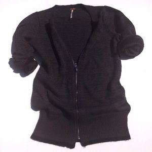 FREE PEOPLE zip up sweater