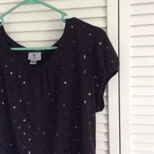 Black sequined Worthington Top