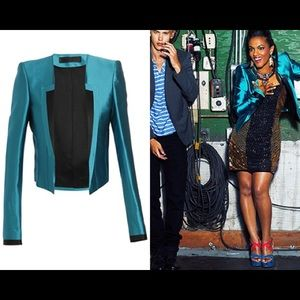 Haider Ackermann Jackets & Blazers - Cropped Charmeuse Blazer from Carrie Diaries set