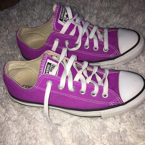 e8090f852acad6 Converse Shoes - Women s purple converse size 8