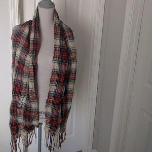 Target zara like plaid scarf red