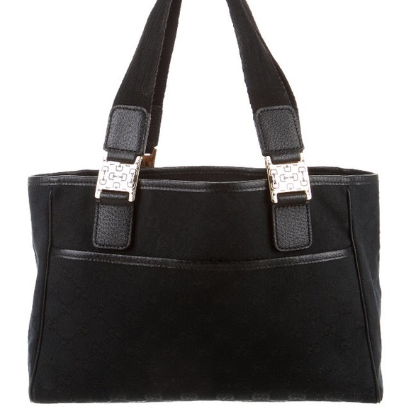 65% off Gucci Handbags - Gucci black Canvas tote bag from Paris's ...
