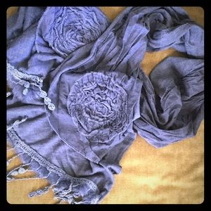 Accessories - 🌟 Blue-grey scarf with beautiful details 🌟
