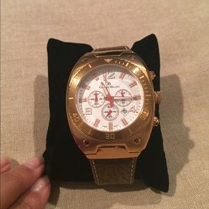 Other - Gold Giorgio Milano watch w genuine leather band.