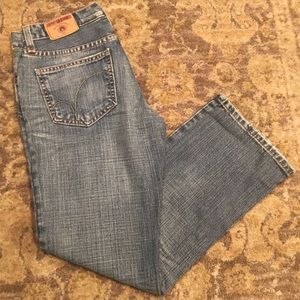 Used, Red engine jeans for sale
