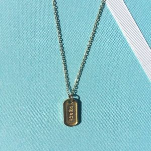 Forever 21 Jewelry - Peace Mini Military Tag Necklace
