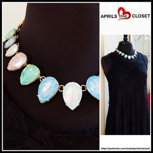 Jeweled Stone STATEMENT Necklace