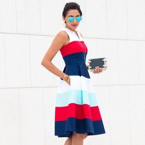kate spade Dresses & Skirts - Gorgeous Kate Spade Red White & Blue Dress