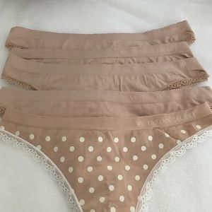 VS nude thongs underwear