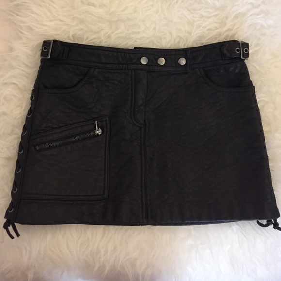 discount coupon skate shoes fashionable and attractive package Pull & Bear Leather Moto Skirt
