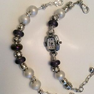 Jewelry - 🎉🎉🎉SOLD🎉🎉🎉 Silver Charm Bracelet and Watch