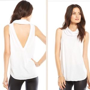 Chaser Tops - Chaser Open Back Cowl Neck Top