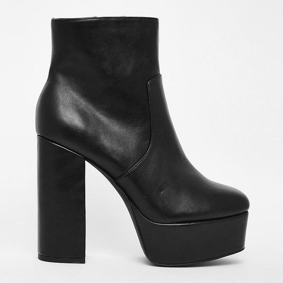 083432bb4 ASOS Shoes | Black Faith Platform Boots 37 | Poshmark