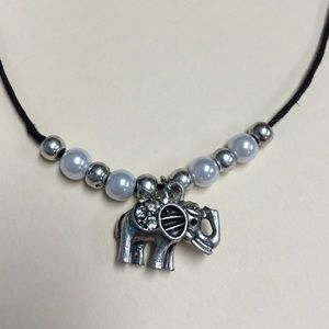 Jewelry - A cute little girls elephant charm necklace.