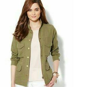 New York & Company Jackets & Blazers - Linen-Blend Utility Jacket