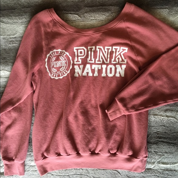 53% off PINK Victoria's Secret Tops - Pink nation sweatshirt from ...