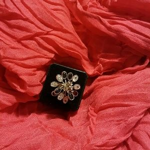 Jewelry - Cz and onyx  coctail ring